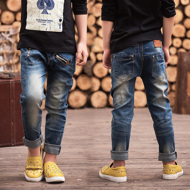 f2446fcd0 Children's Clothing 2019 Spring Trousers Children Baby Pants Slim  Personality Boys Jeans Free Shipping