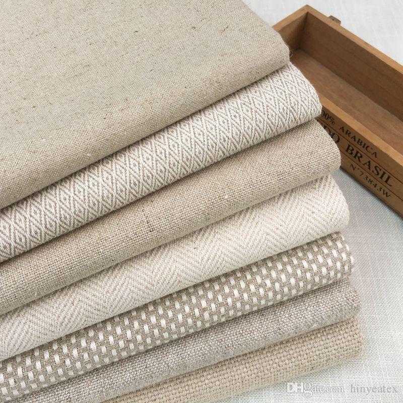 2019 Contemporary Heavy Linen Cotton Table Fabric Natural Home Woven