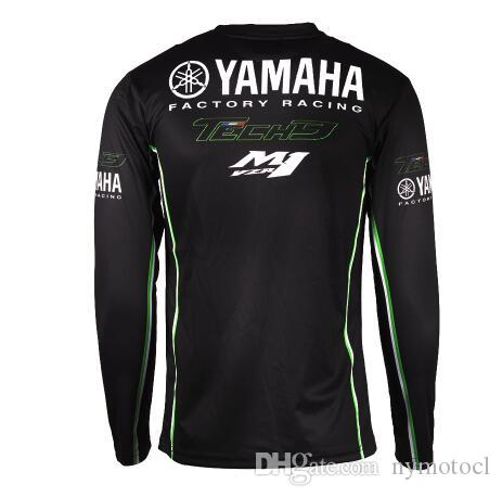 ew Motorcycle Racing Long Sleeve T-shirt for Yamaha Moto GP Racing Wear Black Jersey motocross MTB DH MX riding quick dry