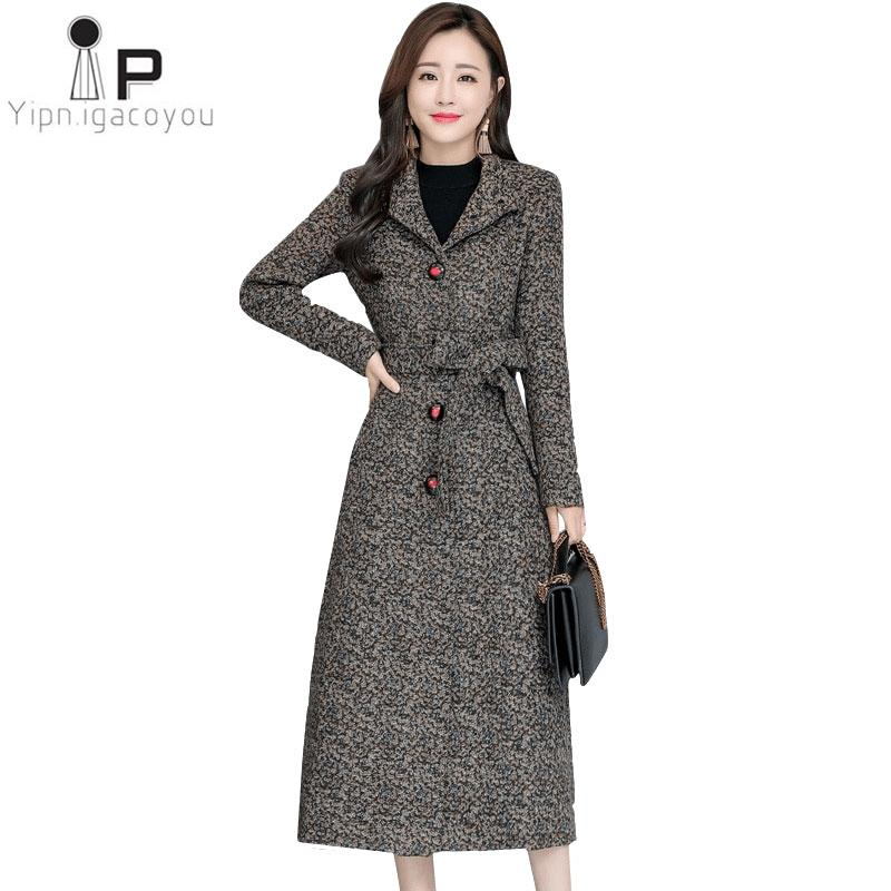 factory authentic cc5f6 101e4 Frauen Mantel Winter Lange Wolle Jacke 2019 Vintage Korean Plus Größe Dünne  Warme Wollmantel Damenmode Damen Wolle Jacke Mantel