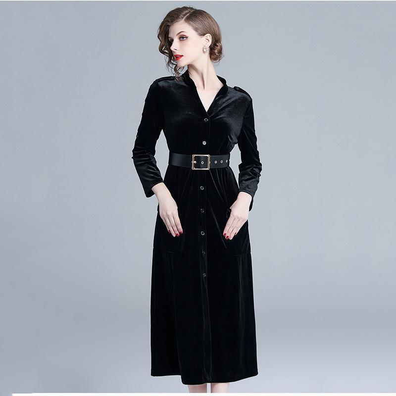 Vestido negro invierno 2018