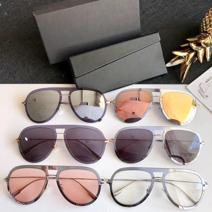 656711f185 2019 Fashion Luxury Brand Sunglasses Retro Men Brand Designer Shiny ...