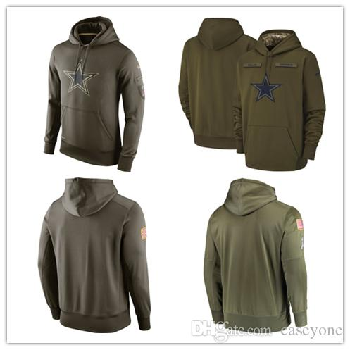 online store 5f5e0 65a32 Men's Dallas new Cowboys jersey fashion movement Olive Salute to Service  Pullover football Hoodie 2018-2019 NEW
