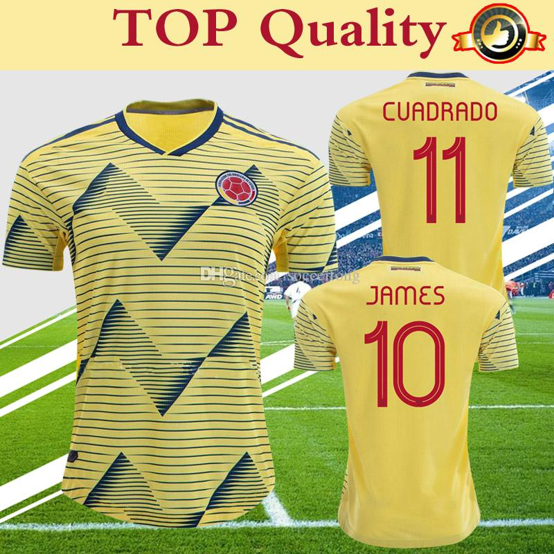 39cded509 2019 Colombia Jersey 2019 Copa America Soccer Shirt Home Yellow FALCAO  JAMES CUADRADO National Team Uniform More Free DHL Shippi From Soccertong