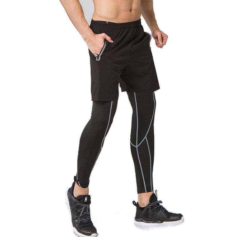 Compre 2019 NUEVO Hombre Deportes Medias De Correr Leggings Ropa De  Gimnasia Gimnasio Baloncesto Compresión Pantalones Fitness Ciclismo Yoga  Tenis Leggings ... 78af0b46e7fee