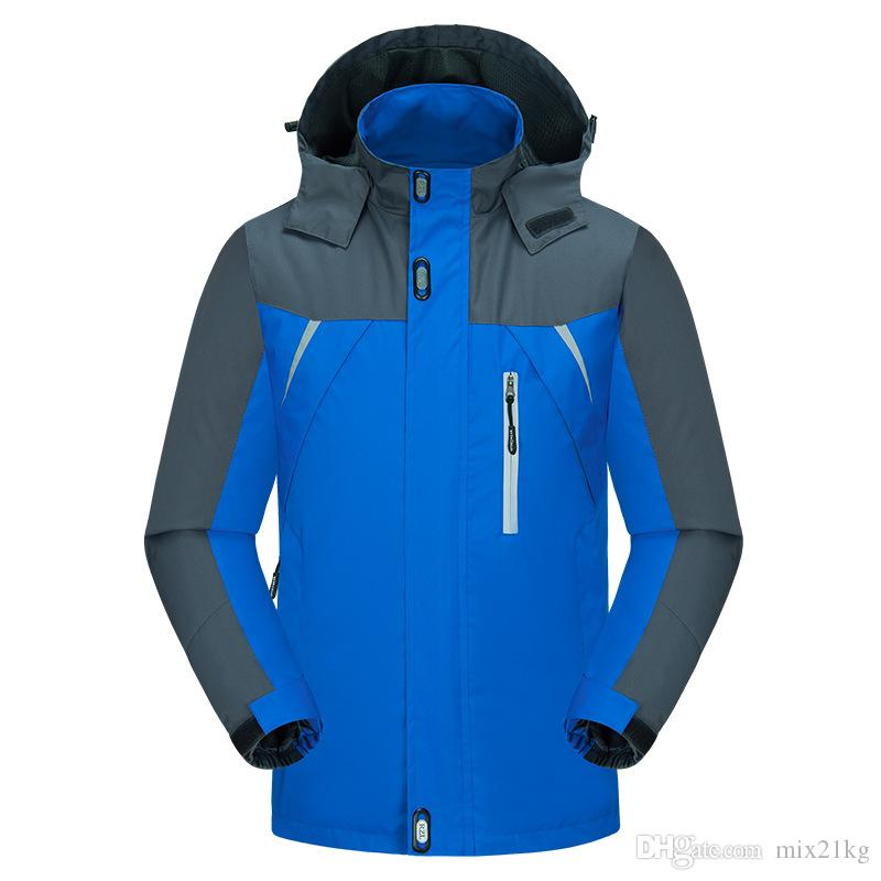Plus Size Ski Jacket Windproof Ski Suit Snowboard Winter Jacket Men Waterproof Outdoor Climbing Hiking Jacket Hoodie Sportswear