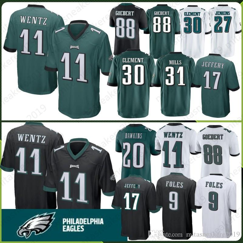 11 Carson Wentz Philadelphia Eagles Jersey 20 Brian Dawkins 86 Zach ... 1ffc3927c