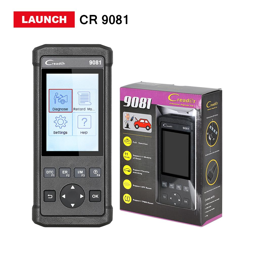 Launch CR9081 code reader scanner support TPMS Oil EPB DPF ABS SAS Reset Full x431 Creader 9081 cr diagnostic tool