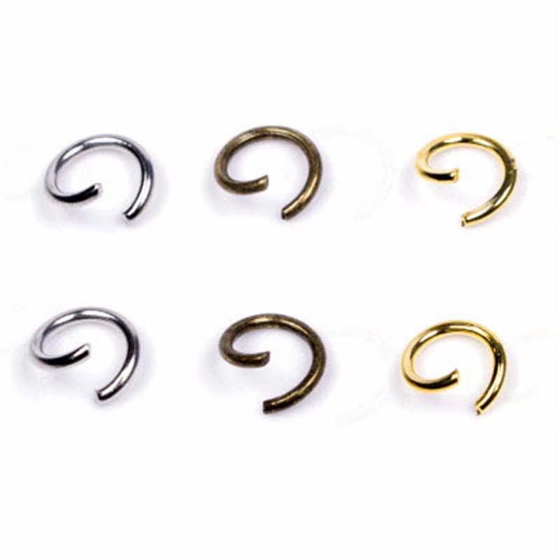 200pcs Jewelry Making Round Open Jump Rings 4mm 5mm 6mm 8mm Gold Silver Color Metal Iron Split Rings Connectors Findings For Diy