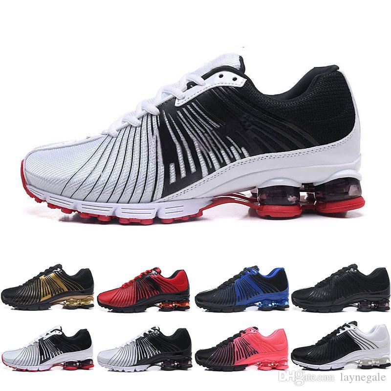 huge selection of 69c83 14b23 Compre Nike Shox Deliver NZ Hombres Mujeres Zapatos Para Correr Entregar OZ  NZ TLX Zapatillas Deportivas Rojo Azul Negro Blanco Deportes Al Aire Libre  ...