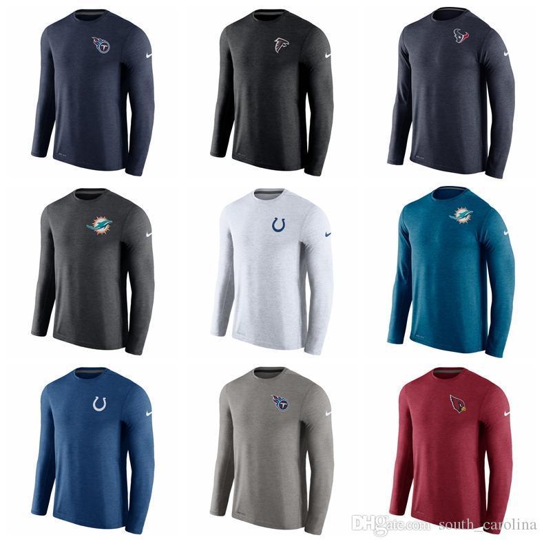 c3aa5450 Men Women Kid Cardinals Houston Texans Shirt Indianapolis Colts Miami  Dolphins Titans Cardinal Coaches Long Sleeve Performance T-Shirt