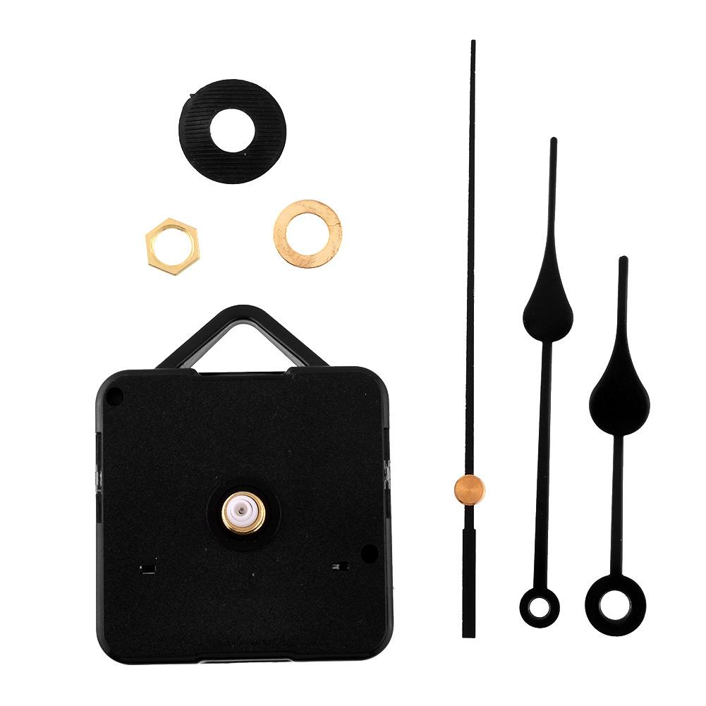 New Fashion Clock Movement Mechanism Parts With Black Hands Repair Replacing Quiet Silent Clock Essetial Drop shipping