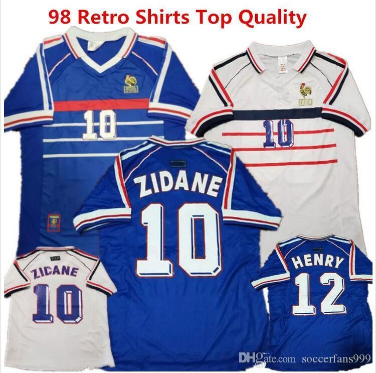 89d247ca7 2019 1998 Frances 2006 FRANCE HOME AWAY RETRO VINTAGE ZIDANE HENRY MAILLOT  DE FOOT ZIDANE Soccer Jerseys Uniforms Football RIBERY 22 Shirt From ...