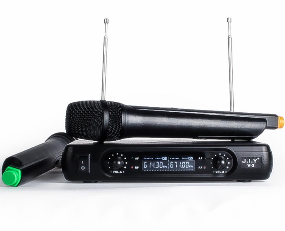 Handheld Wireless Karaoke Microphone Karaoke player Home Echo Mixer System  Digital Sound Audio Mixer Singing Machine V2