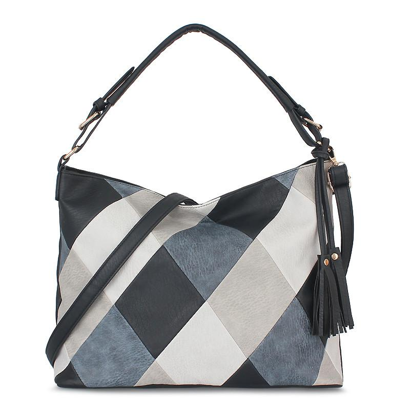 Fashion Crossbody Bags For Women 2019 Spring Patchwork Luxury Handbags  Women Bags Designer PU Leather Hobos Female Shoulder Messenger Bag Cheap  Handbags ... ea86609933e95