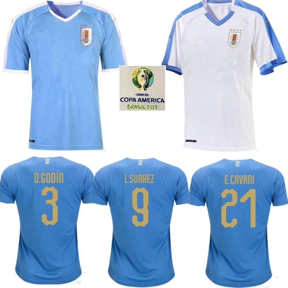 hot sales f8bfd 1d42f 2019 Uruguay Copa America Soccer Jersey 19 20 Uruguay Home L.suarez  E.cavani Soccer Shirt D.GODIN National Team Football Uniforms