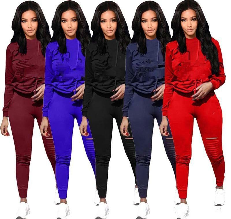 DHL CP Letter Women Sport Tracksuit Hoodies + Pants Woman Set Outfit ... d5618d2cf