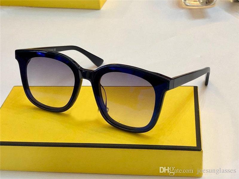 f8d95083fb9 New Fashion Designer Women Sunglasses 0286 Square Frame Simple ...