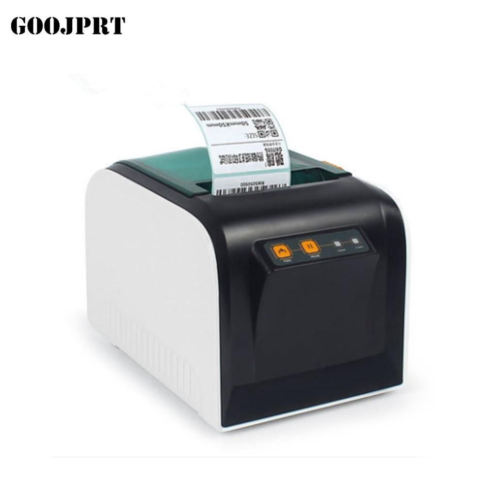 Thermal label printer 80mm sticker printing machine with usb serial port eu plug label printer pos printer thernal receive printer online with 107 78 piece