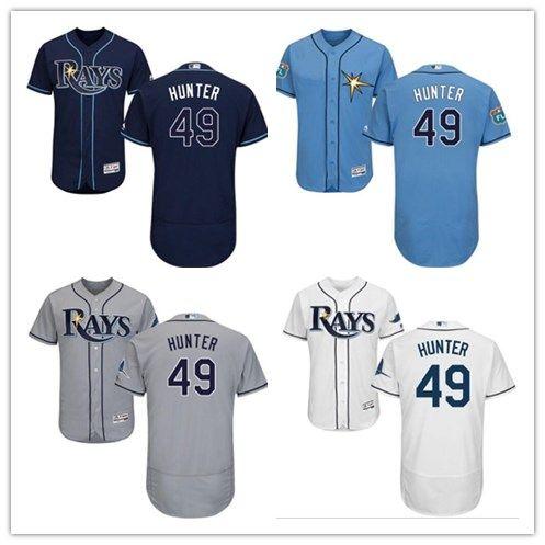 wholesale dealer 75c58 9b49a 2018 Tampa Bay Rays Jerseys #49 Tommy Hunter Jerseys men#WOMEN#YOUTH#Men s  Baseball Jersey Majestic Stitched Professional sportswear