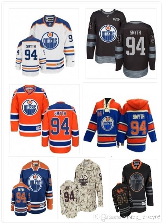 2018 Can Edmonton Oilers Jerseys  94 Ryan Smyth Jerseys Men WOMEN ... 7b77ee4a5