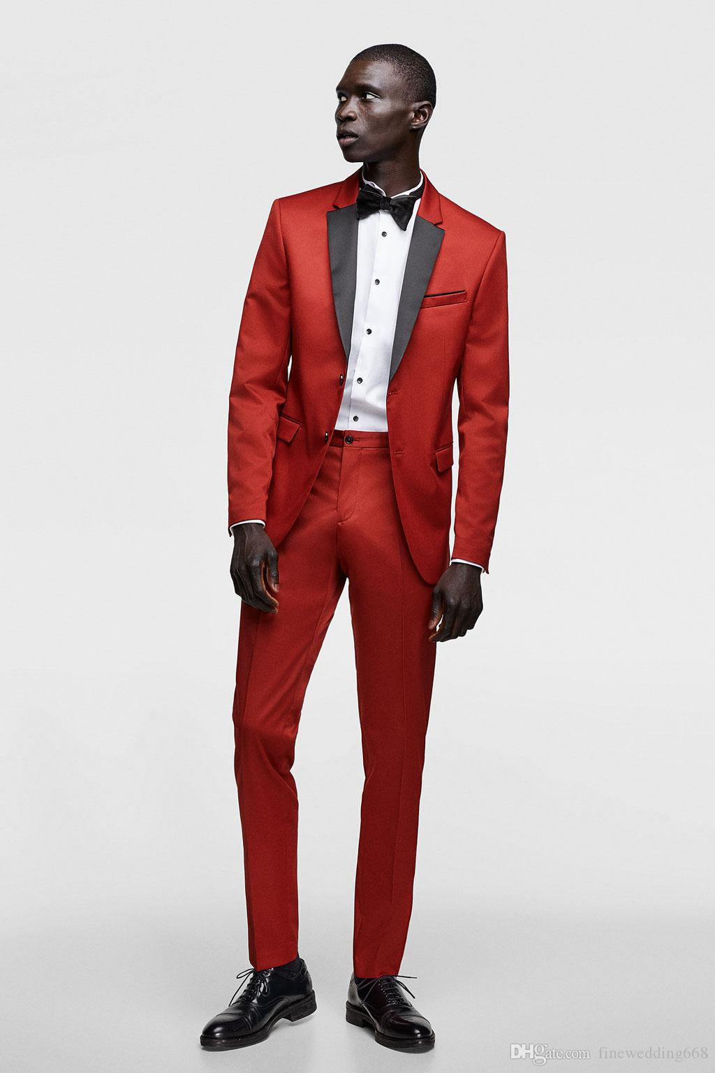 d538c5c882f0 All Loved One Button Groomsmen Notch Lapel Groom Tuxedos Men Suits Wedding/Prom/Dinner  Best Man BlazerJacket+Tie+Pants 039 Formal Trouser Formal Trousers ...