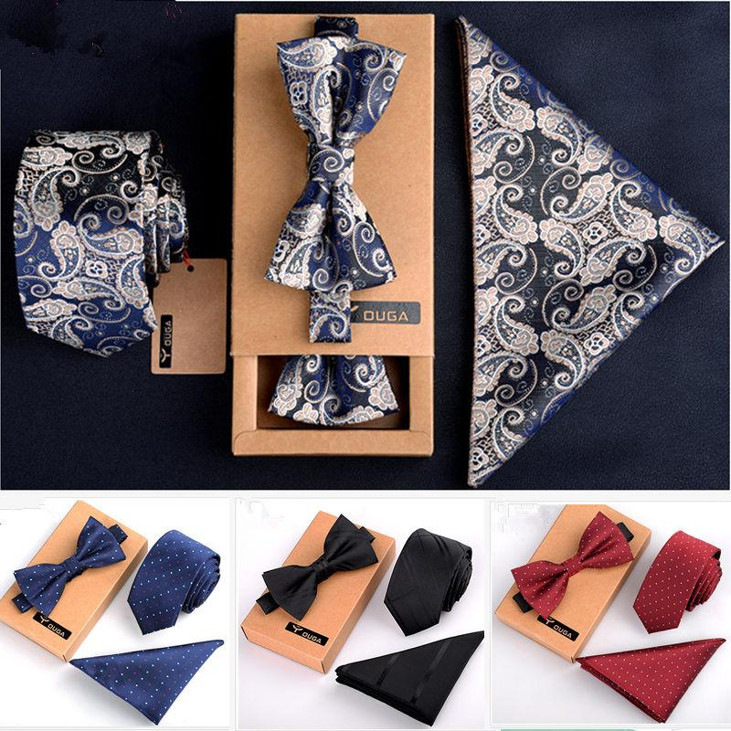 1cc87a69c04a Men Bow Tie And Handkerchief Set Bowtie Slim Necktie Corbatas Hombre  Pajaritas Cravate Homme Noeud Papillon Man Cool Ties White Bow Tie From  Maocai, ...