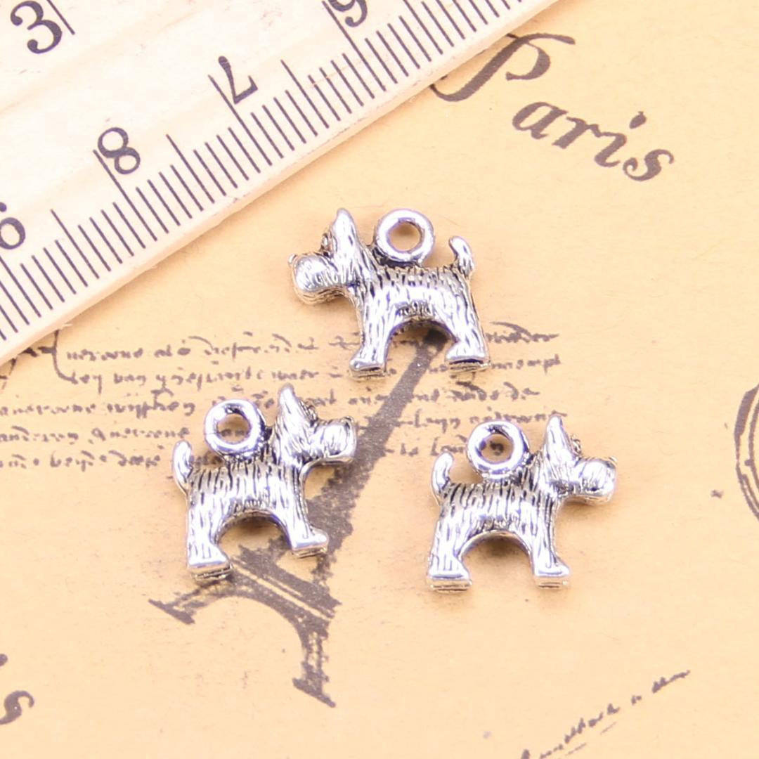 10pcs Charms dog 14x12mm Antique Pendants,Vintage Tibetan Silver Jewelry,DIY for bracelet necklace
