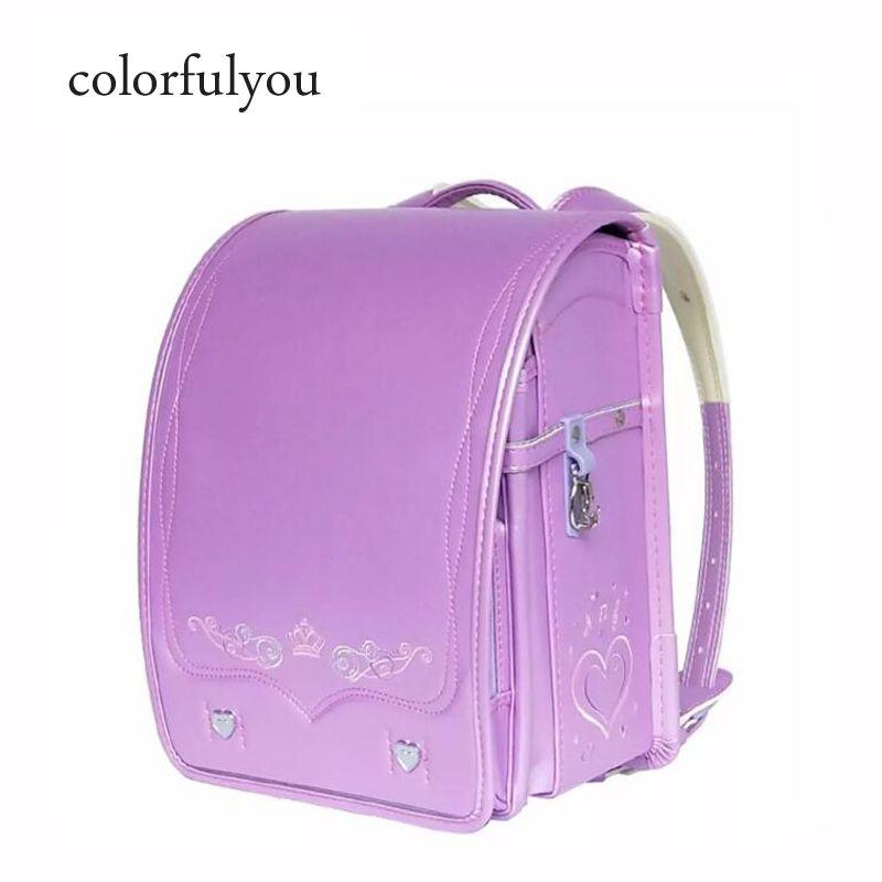 2019 NEW Embroidery Love Japan School Bags PU Leather Orthopedic Backpack  For Girls Kids Randoseru Primary School Student Bag School Bags For Girls  ... 4a826996ba64d