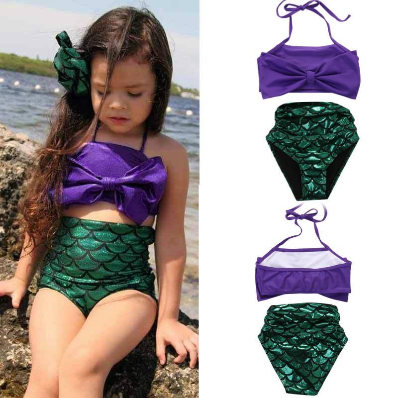 482304c7601fd 2019 Kid Baby Girls Mermaid Bikini Set 2019 Summer Baby Girl Two Piece Set Swimsuit  Bathing Suit Children Girl Beachwear 1 6T From Xiandaishishang, ...