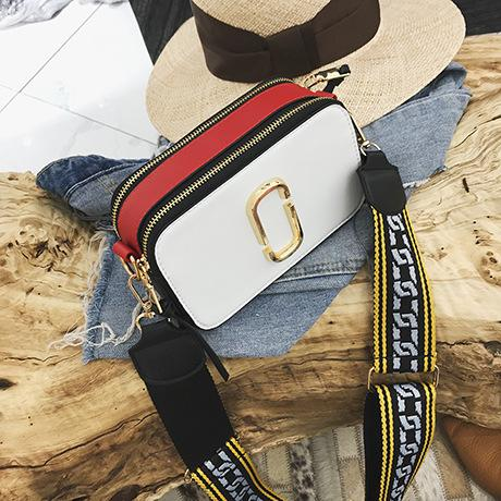f4bc2d0d5d 2019 New Fashion Wide Shoulder Straps Leather Women Shoulder Bags Messenger  Crossbody Bag Small Square Package Handbags Laptop Messenger Bags Purses On  Sale ...