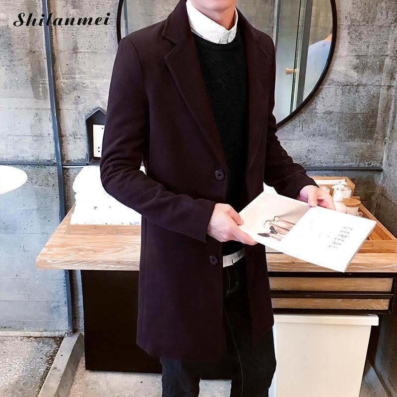 070ad0d82 New Men Coat Winter Jackets Men Outwear Long Slim Jackets New Fashion Male  Casual Trench Large Streetwear Jacket and Coats