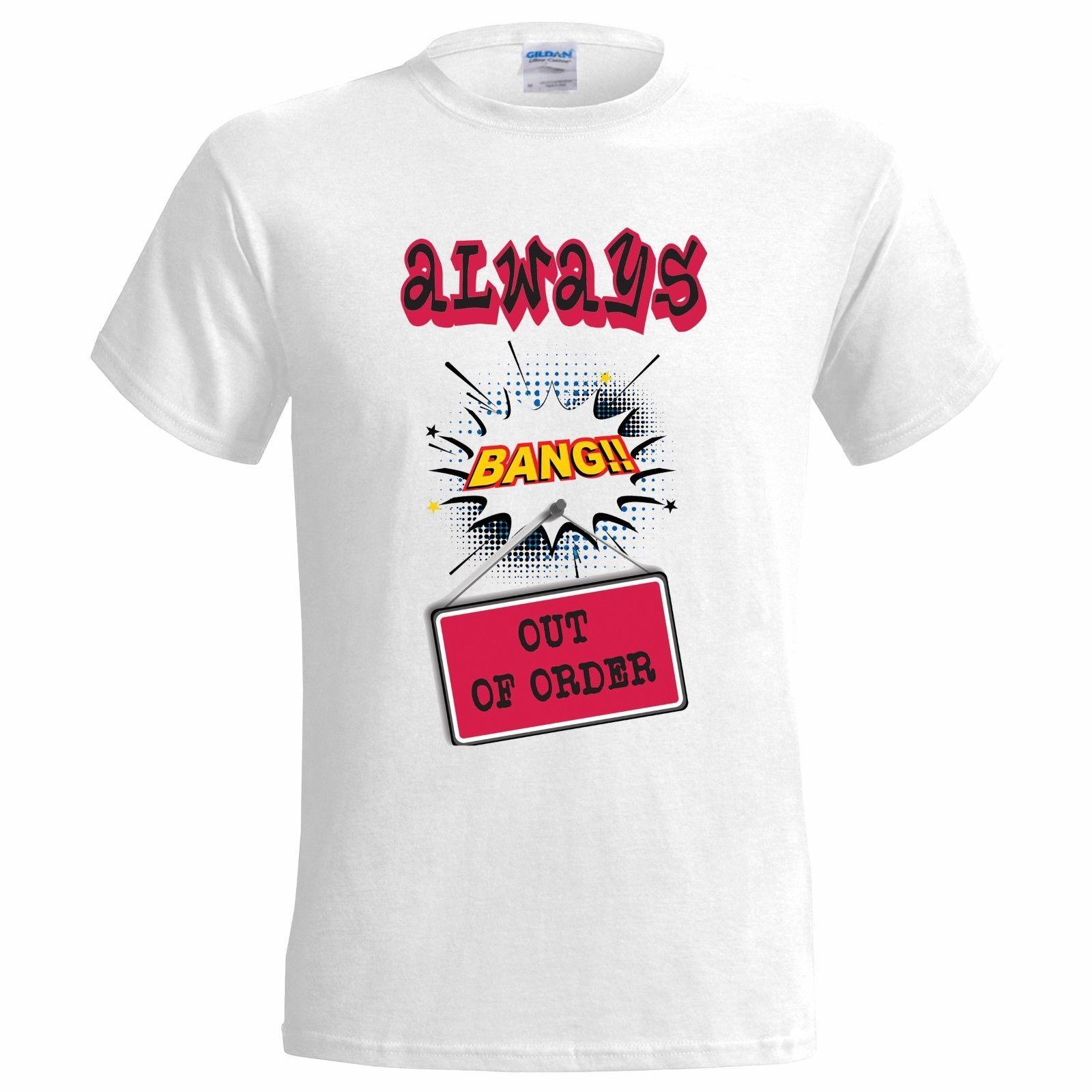 abc4d3aec49 BANG OUT OF ORDER MENS T SHIRT DRUNK DRINKING STAG GIFT PARTY PRESENT  CHRISTMAS Men Women Unisex Fashion Tshirt Novelty T Shirt Funny Printed T  Shirts From ...
