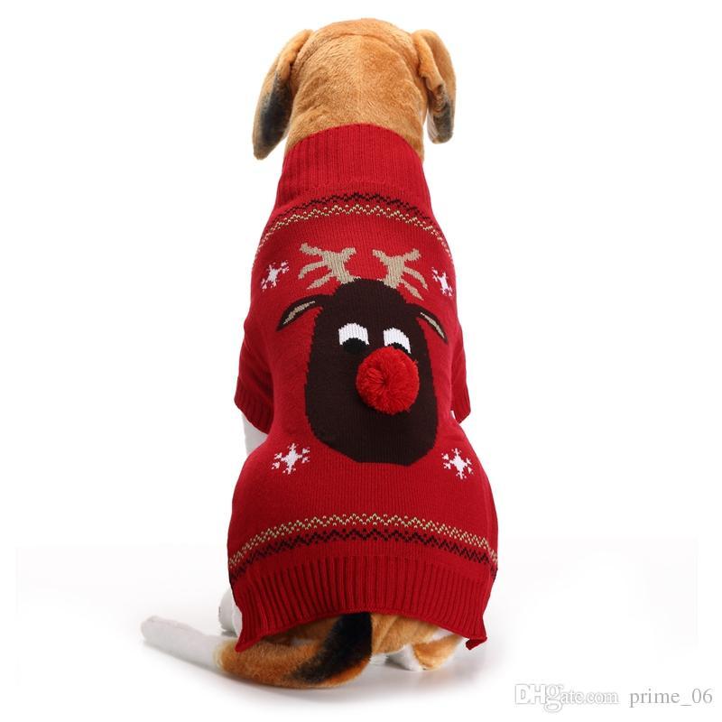 c7bcd8b9a270a Acheter Pull Pour Chien De Compagnie Pour L automne Hiver Chaud À Tricoter  Crochet Dachshund Manteau De Chien De Noël Vêtements Pour Chihuahua XS XL De  ...