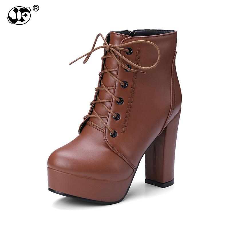 170c0da244a34 Compre 2018 Tallas Grandes 34 48 Agregar Botas De Invierno De Piel Zapatos  De Mujer Plataforma Tacones Altos Botas Sexy Botines Zapatos Femeninos  Calzado ...