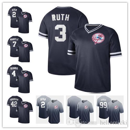 timeless design 5e661 85995 Custom 2019 New York 2 Derek Jeter 24 Gary Sanchez Yankees jersey 42  Mariano Rivera 7 Mickey Mantle Baseball stitched Jerseys