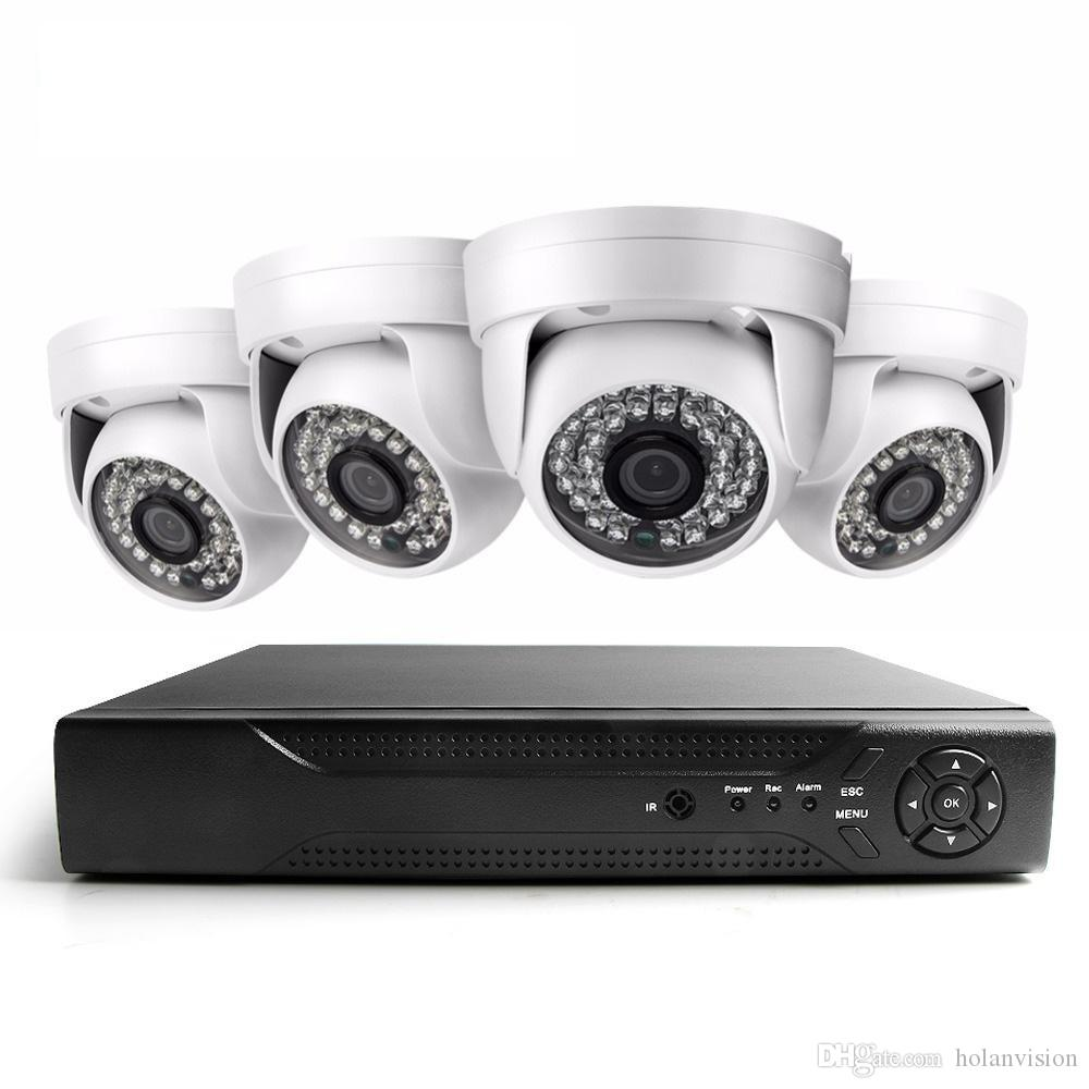 4CH AHD CCTV Home Security Camera System Kit Waterproof Intdoor dome Night Vision IR-Cut DVR CCTV Home Surveillance 720P Black White Camera