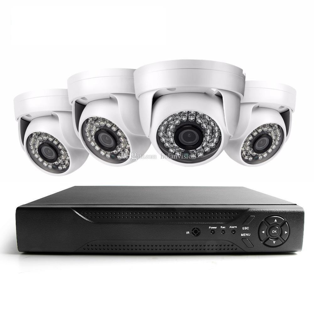 Видеонаблюдение HDMI 4CH AHD 1080N DVR HD Day Night 1800TVL 24IR Водонепроницаемая внутренняя камера видеонаблюдения Системы домашней безопасности