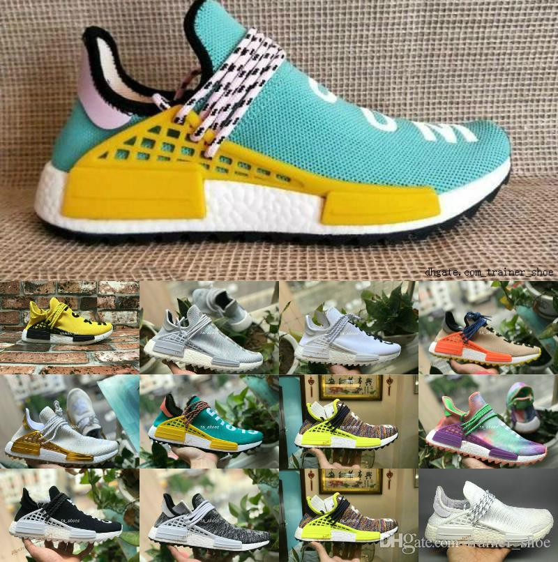 fe0d5678593c3 Hot Sell Pharrell Williams Human Race NMD Men Women Sports Running ...