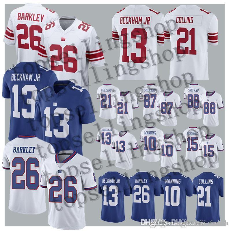 official photos d8da5 e9538 26 Saquon Barkley New York Gaint jersey 13 Odell Beckham Jr 10 Eli Manning  21 Landon Collins 87 Sterling Shepard jerseys