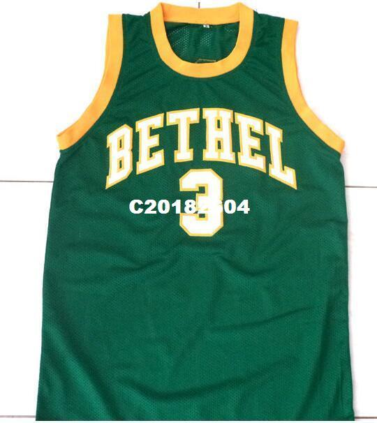 41f26a3a25f9 2019 Men ALLEN IVERSON  3 BETHEL HIGH SCHOOL BASKETBALL JERSEY Or Custom  Any Name Or Number Basketball Jersey From C20182604