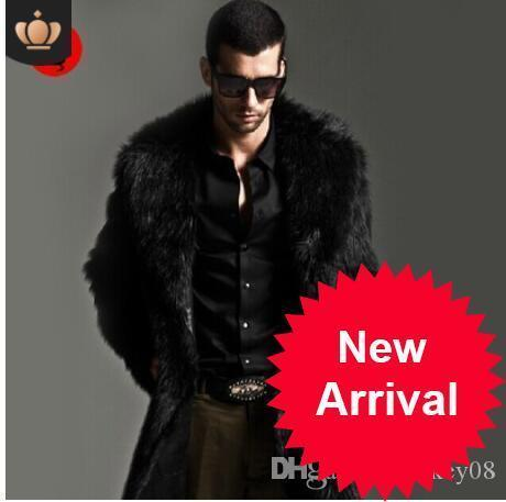 Jackets & Coats Artificial Fur Coat 2019 Winter Mens Faux Fur Coats Jackets Parka Windbreaker Two Ways Wear Plus Size Long Fur Overcoat S71 Jackets
