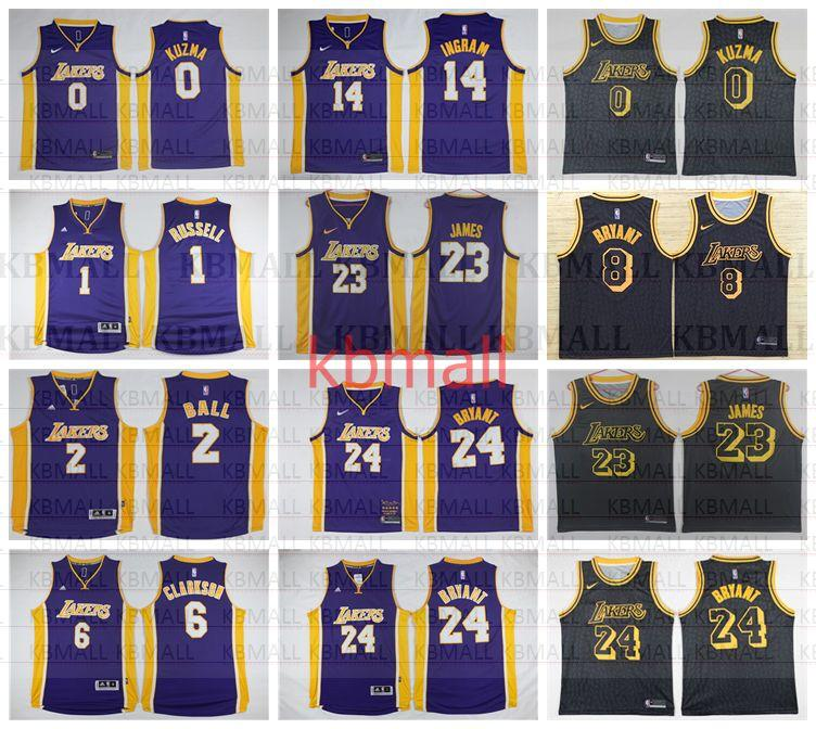 2020 Nueva NCAA Universidad LeBron James 23 Anthony Davis 3 hombres hijos jerseys del baloncesto 32 Kyle Johnson 0 Kuzma 14 Ingram