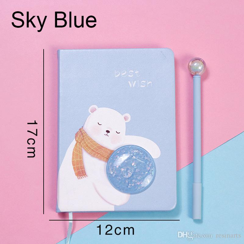 Star Rabbit Notebook,Ins Pink Girl Heart,Cartoon Bear Set Pens,Lovely Stationery,Simple Design,School Supplies,
