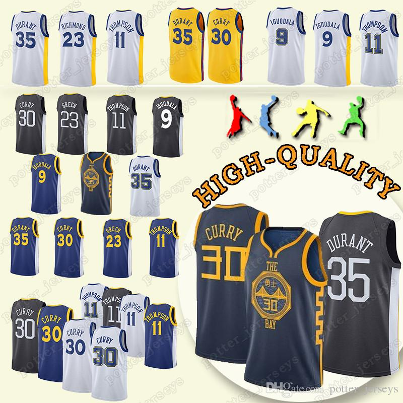 9e48e56aaad4 2019 Cheap Sales Golden State 35 Kevin Durant Jerseys Warriors 30 Stephen  Curry 23 Draymond Green 9 Andre Lguodala Jersey From Potter jerseys