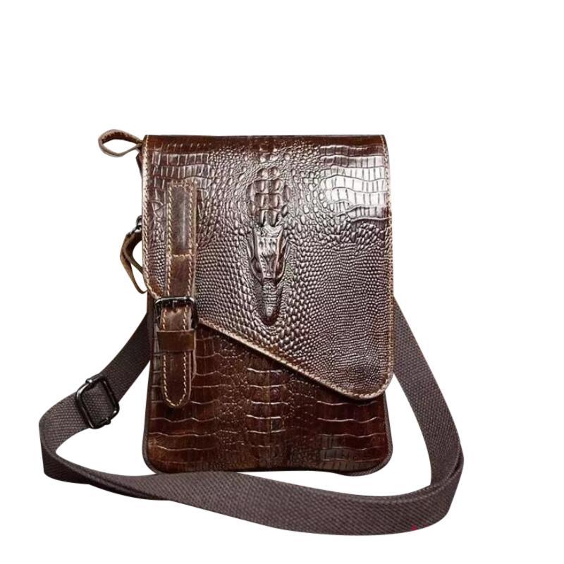 dc5c24bad32 Sales Promotionmen Bag Lederen Crossbody Messenger Tassen Heren Schoudertas  Mannen Tas Flap Rits Vintage Koffie Crossbody Tas Leather Purse Rolling ...
