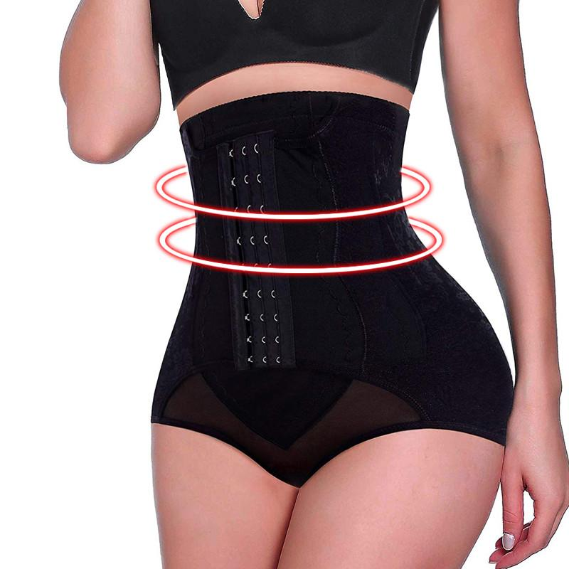 cbcda54d7a 2019 NINGMI High Waist Trainer Tummy Control Panties Butt Lifter Women Hot Body  Shaper Corsets Shapewear Tight Underwear Panty Hooks From Seein