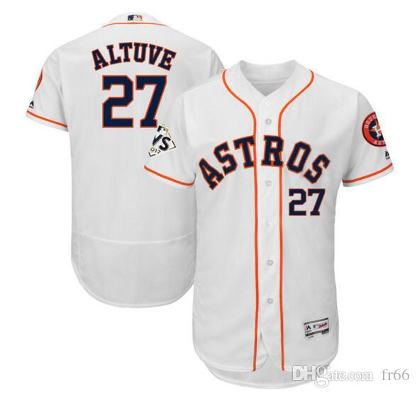 971258ac59e Custom Houston Astros Jose Altuve Majestic White 2018 World Series Bound  Flex Base Player Jersey Sports Wholesale Mlb Men S Baseball Jerseys UK 2019  From ...