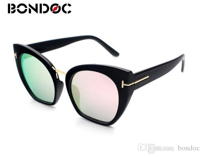 a40714b0dae Unisex Acrylic Flat Mirrored Reflective Color Lens Eyewear Large Horn  Rimmed Style Trend Fashion Style Sunglasses Sunglasses Eyewear Goggles  Online with ...