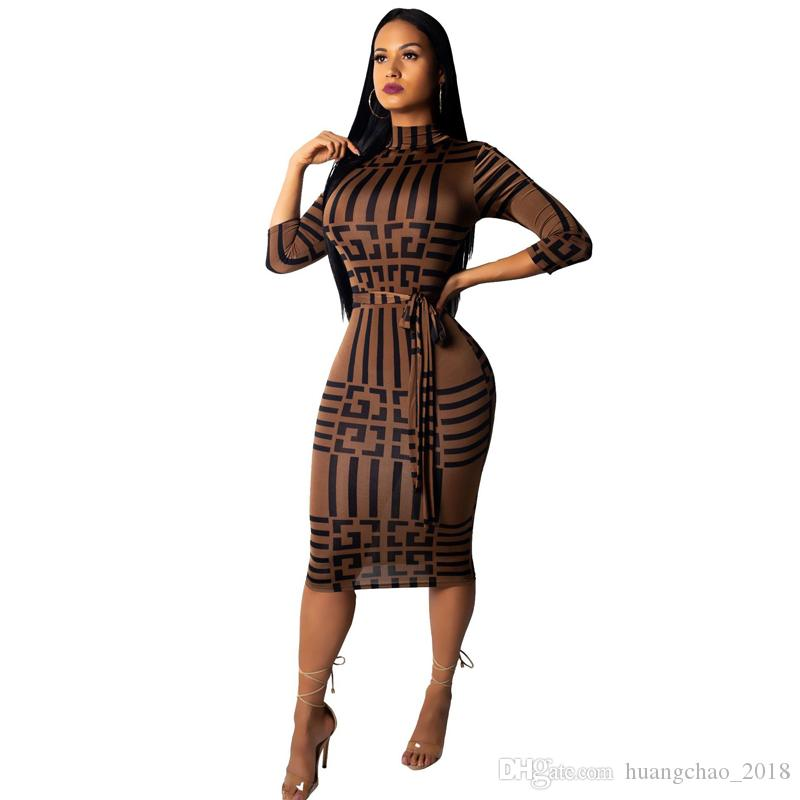 90a5b7d5d1 Women Vintage Patchwork Party Dress Three Quarter Sleeve Straight Casual Bodycon  Dress 2018 Autumn Dresses Large Size Christmas Clothes Floral Sundresses ...